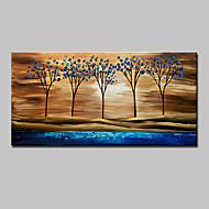 Ručno oslikana Sažetak Pejzaž Apstraktni pejsaži Cvjetni / Botanički Horizontalno,Moderna Jedna ploha Platno Hang oslikana uljanim bojama