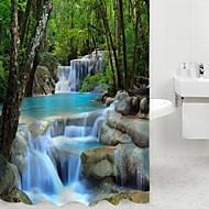 Contemporânea Poliéster 180 x 200cm (L x W) - Alta qualidade Cortinas de Banheiro