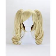 Damen Synthetische Perücken Kappenlos Mittel Lockig Blond Mit Pferdeschwanz Mit Pony Cosplay Perücke Halloween Perücke Karnevalsperücke