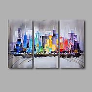 Pintados à mão Abstrato Paisagem Pinturas a óleo,Moderno 3 Painéis Tela Pintura a Óleo For Decoração para casa