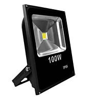 lâmpada 100w quente fresco cor branca preta ultra outdoor IP65 / fina levou holofote led (AC85-265V)