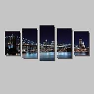 Krajina Architektura Fotografie Moderní,Pět panelů Horizontální Grafika Wall Decor For Home dekorace
