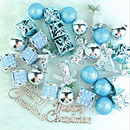 Ornamento da árvore de 32 lago pacote de natal azul para pendurar um pingente natal monte