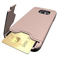 Para Porta-Cartão Com Suporte Capinha Capa Traseira Capinha Cor Única Rígida PC para Samsung S8 S8 Plus S7 edge S7