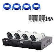 1080P / 적외선 / 방수 및 4 채널 H.264 NVR 콤보 키트와 strongshine®ip 카메라