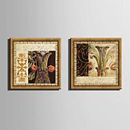 Floral/Botânico Quadros Emoldurados / Conjunto Emoldurado Wall Art,PVC Material Dourado Sem Cartolina de Passepartout com frame For