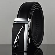 Men's Black Jaguar Icon Automatic Buckle Waist Belt Work/Casual Alloy/Leather All Seasons