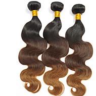 Ljudske kose plete Brazilska kosa Prirodne kovrče 3 komada kosa isprepliće