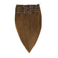 clip remy vierge cheveux humains extensions 7pieces / set # 8 14-20inch 70g 22inch 100g