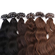 cheveux remy boucle neitsi 20 '' 25g / lot vague naturel à long ongles u bout fusion extensions de cheveux humains