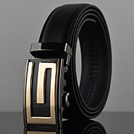 Men's Simple G Icon Automatic Buckle Waist Belt Work / Casual Alloy / Leather Black All Seasons