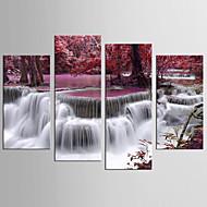 Krajina Květinový/Botanický motiv Moderní Realismus,Čtyři panely Plátno Jakýkoliv Shape Tisk Art Wall Decor For Home dekorace