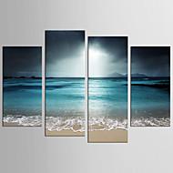 Landskab Fantasi Moderne Realisme,Fire Paneler Kanvas enhver Shape Print Vægdekor For Hjem Dekoration