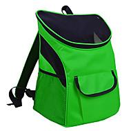 Кошка Собака Переезд и перевозные рюкзаки Животные Корпусы Компактность Дышащий Однотонный Темно-синий Светло-синий Светло-Зеленый
