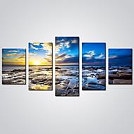 Krajina Volný čas Moderní Realismus,Pět panelů Plátno Horizontální Grafika Wall Decor For Home dekorace
