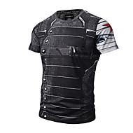 3bf209d52f91 Ανδρικά T-shirt Ενεργό   Πανκ   Γκόθικ - Βαμβάκι Στρογγυλή Λαιμόκοψη Στάμπα  Μαύρο XL   Κοντομάνικο   Καλοκαίρι