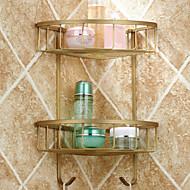 Hylle til badeværelset Antikk kopper Veggmontert 380*210*70mm(14.96*8.26*2.75inch) Messing Antikk
