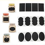 36PCS 분필 펜 칠판 스티커 라벨 비닐 부엌 항아리 장식 데칼 5cm X 가로 3.5cm