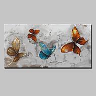 מצויר ביד מופשט בעלי חיים ציורי שמן,מודרני סגנון ארופאי פנל אחד בד ציור שמן צבוע-Hang For קישוט הבית