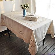 Rectangulaire Floral Table Cloths , Linen materiaaliHotel ruokapöytä Häät Party Sisustus Häihin Illallinen Joulu Sisustus Favor Taulukko