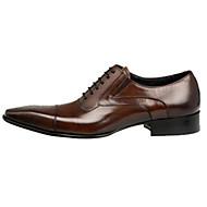 Masculino sapatos Couro Primavera Verão Outono Inverno Conforto Inovador Oxfords Caminhada Cadarço Combinação Para Casamento Festas &