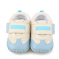 Kinder Baby Flache Schuhe Lauflern Kinderbett Schuhe Kunstleder Frühling Herbst Normal Flacher Absatz Schwarz Hellblau Flach