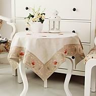 Neliö Embroidered Table Cloths , 100% Cotton materiaaliHäät Party Sisustus Häihin Illallinen Joulu Sisustus Favor Taulukko Dceoration