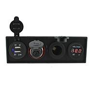 12v / 24v 3.1a usb portcigarette leichter socketpower Buchse und Voltmeters mit Tafelgehäuse Halter für LKW rv Auto Boot