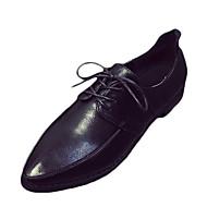 Ženske Oksfordice Udobne cipele PU Proljeće Ljeto Kauzalni Udobne cipele Ravna potpetica Crn Sive boje Svjetlosmeđ Do 2.5 cm