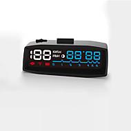 2017 mais novo 4f carro obd2 ii manual interruptor hud km / h mph overspeed aviso pára-brisa projetor sistema de alarme cabeça para cima