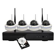 yanse® 1.3MP trådløs kuppel NVR kit ir nattesyn 15led wifi ip kamera (indbygget 1TB harddisk)