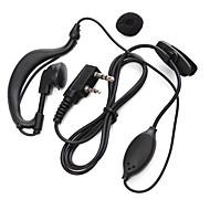 365 walkie talkie øretelefon transceiver mikrofon handy talkie øresnegl universel for Baofeng 365 Wanhua TYT HYT