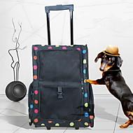 Собака Переезд и перевозные рюкзаки Животные Корпусы Компактность Дышащий Однотонный Черный Пурпурный Красный Синий Розовый