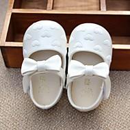 Kinder Baby Sandalen Schuhe für das Blumenmädchen PU Frühling Sommer Normal Schuhe für das Blumenmädchen Flacher Absatz Weiß Rosa2,5 -