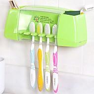 Tannbørsteholdere Multifunksjonell Lagring Plast Toalett Bath Caddies