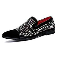 Férfi cipő Bőr Tavasz Ősz Mokaszin Papucsok & Balerinacipők Gyalogló Glitter Kompatibilitás Esküvő Hétköznapi Party és Estélyi Fekete