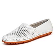 Miehet kengät Nappanahka Kevät Kesä Syksy Comfort Mokkasiinit Kävely Split Joint Käyttötarkoitus Kausaliteetti Valkoinen Musta Keltainen