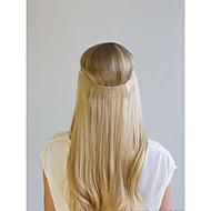 16-22 cala 100% ludzkich włosów ukryte niewidoczne drut ręcznie robione ludzkie włosy przedłużenie 100g (szerokość 25 cm)