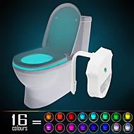 Ywxlight® ip65 16 culori mișcare activată toaletă lumină de noapte se potrivește oricărei toaletă-apă rezistentă la băi noapte lumină ușor