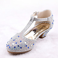女の子-ウェディング ドレスシューズ カジュアル パーティー-マイクロファイバー レザーレット-フラットヒール-アイデア フラワーガールの靴 コンフォートシューズ-フラット-