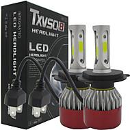 txvso8自動2倍h4ハイ/ロ車のヘッドライト252w 25200lm車は電球h4 h / lビーム自動車ヘッドランプ霧ランプ6500kヘッドライトグローブキットを導いた