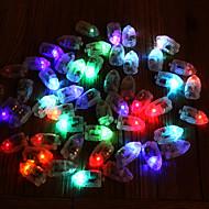50pcs / set led lâmpadas de flash rgb luzes de balão para lanterna de papel luz de balão multicolor branco decoração de casamento amarelo