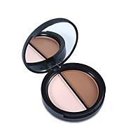 1Pcs Contour Palette Highlighter & Bronzer Press Powder Makeup