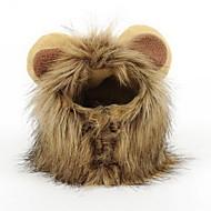 Lion mane paryk til hund og katte kostume pet justerbar vaskbar komfortabelt løve hår