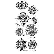 Tatuointitarrat Toteemisarja Kuvio Alaselkä WaterproofNaisten Miesten Teini Flash Tattoo väliaikaiset tatuoinnit