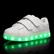 Para Meninos Tênis Tênis com LED TPU Verão Outono Casual Tênis com LED LED Salto Baixo Branco Preto Roxo Claro Menos de 2,5cm