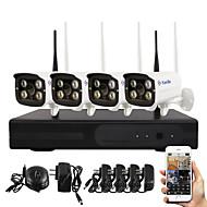 Yanse® plug and play trådløst netværkskamera nvr kits ir night vision sikkerhed wifi ip kamera dvr system (hdmi / 720p / p2p)