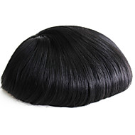 Thin Skin Men's Toupee Real Human Hair Pieces For Men #1 Human Hair Men's Wig