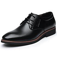 Herrer Oxfords Komfort Formelle sko Læder Forår Sommer Efterår Vinter Afslappet Komfort Formelle sko Snøring Flad hæl Sort Brun