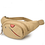 Herren Taschen Ganzjährig Oxford Tuch Hüfttasche mit für Normal Braun